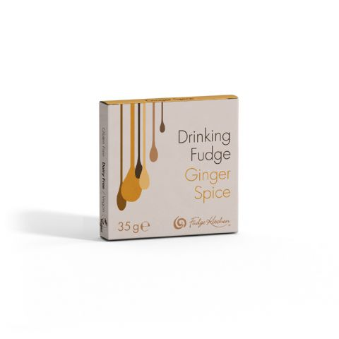 Ginger Spice - Drinking Fudge Liquid Hot Chocolate Syrup 35g By Fudge Kitchen